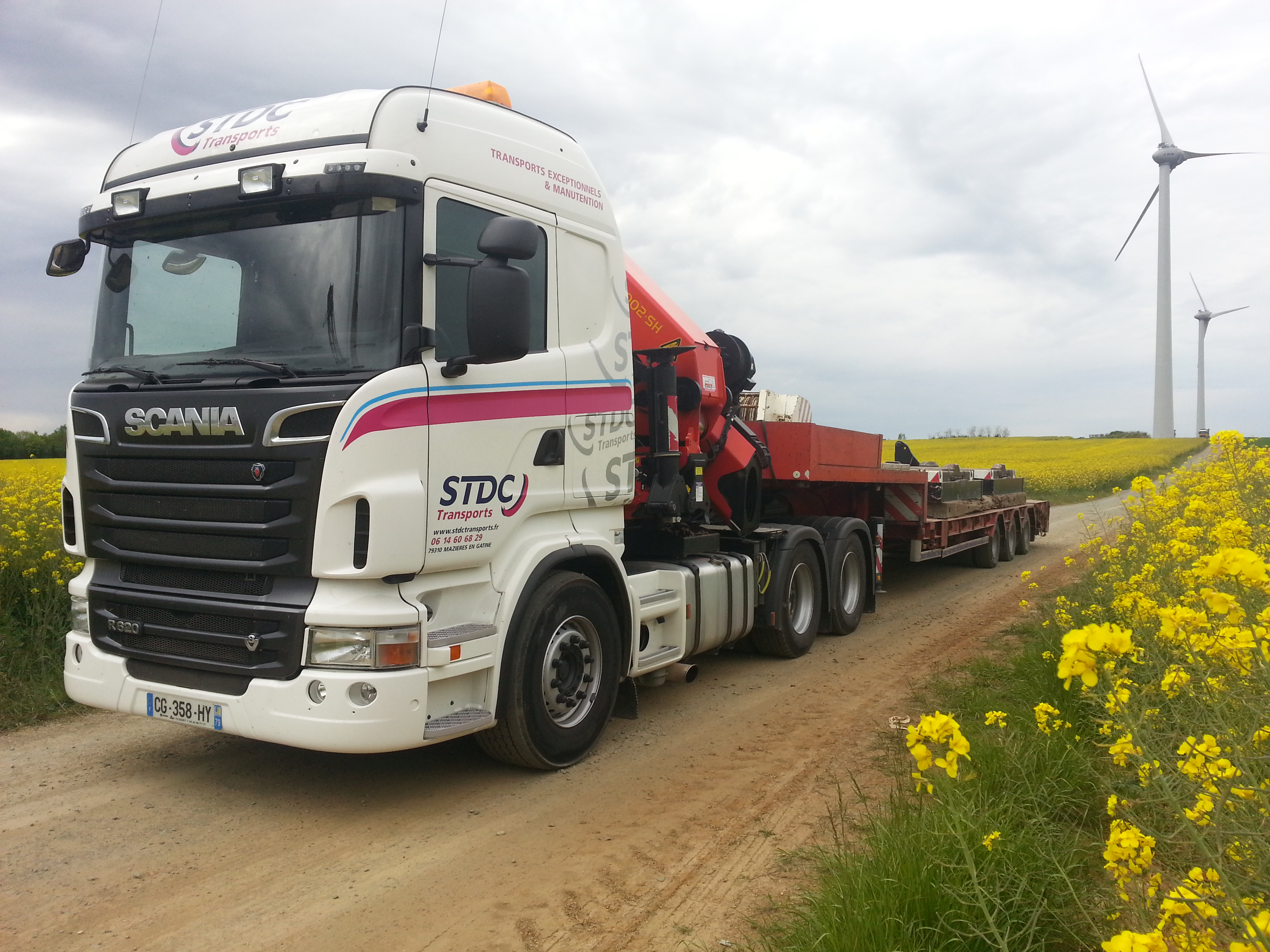 Sarl stdc transports for Porte engin 60 tonnes